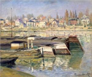 The Seine at Asnières by Claude Monet