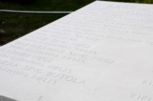 Names on the Patcham Down Memorial