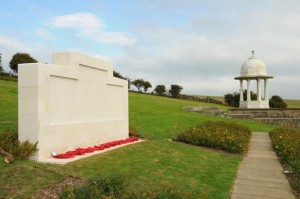 Patcham Down Indian Forces Crenation Memorial with Chattri Memorial in background