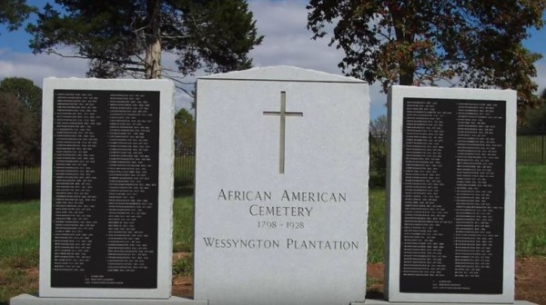 Second Wessyngton Memorial, for all slaves held at the plantation.