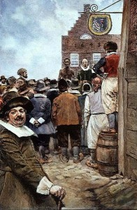 First Slave Auction in New Amsterdam, 1655